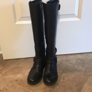 Enzo Angiolini black leather boots